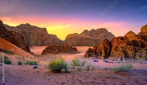 Obraz na plátně Wadi Rum desert in Jordan