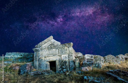 Ruins of Hierapolis under the stars