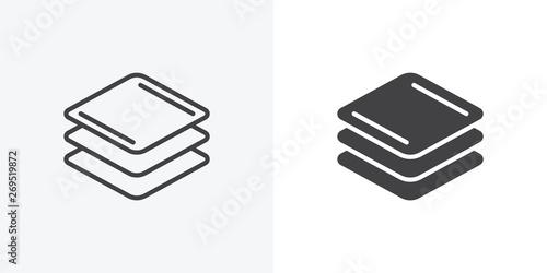 Stampa su Tela Square layers icon
