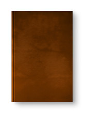 Closed Leather Blank Book Isol...