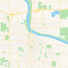 Empty Vector Map Of Lawrence, ...