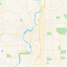 Empty Vector Map Of Bend, Oregon, USA