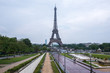 Panoramic Eiffel Tower of Paris France