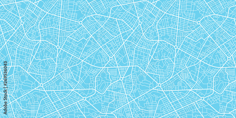 Fototapeta Urban vector city map seamless texture