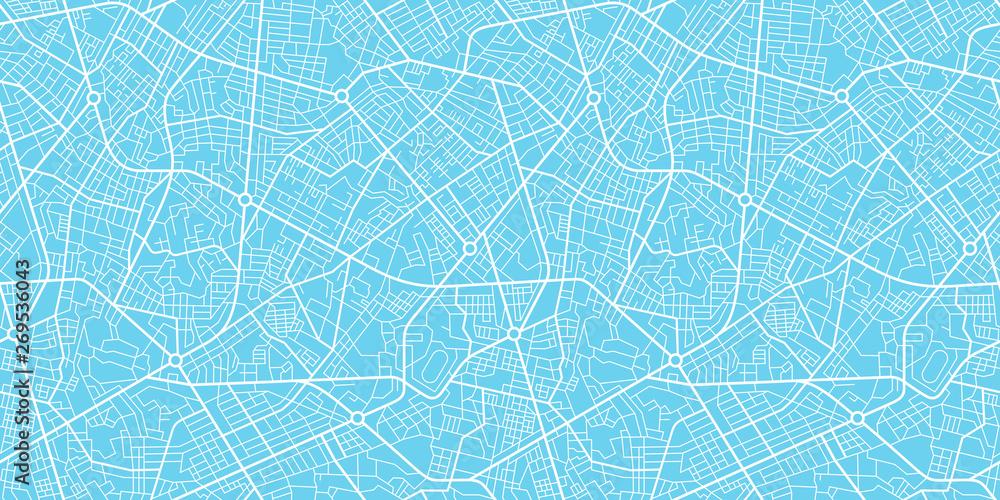 Urban vector city map seamless texture