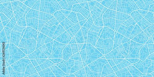 Photo  Urban vector city map seamless texture