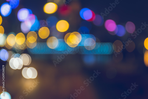 Photo Stands Eggplant Light night city bokeh abstract background