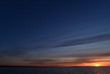 Twilight Sky In The Glow Of Su...