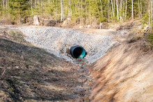 Culvert Tube In The Countrysid...