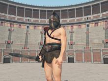 Thrakischer Gladiator Im Kolos...