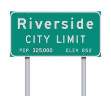 Riverside City Limit Road Sign
