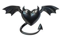 3D Render Of Black Latex Heart...