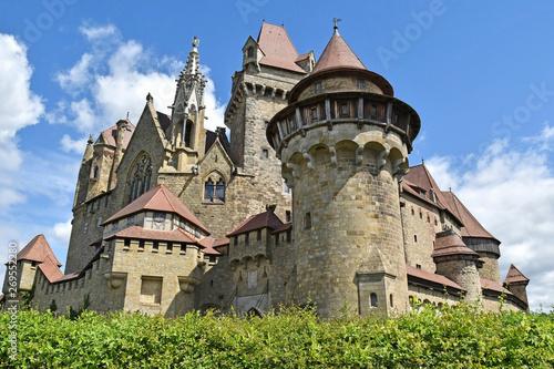 Old castle of Kreuzenstein in Austria