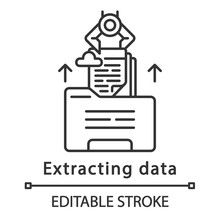 Extracting Data Linear Icon