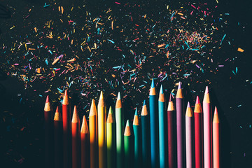 Colorful pencil and pencil ...