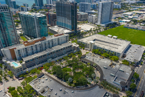 Aerial drone image Midtown Miami FL