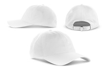 White Canvas Fabric Cap Isolat...
