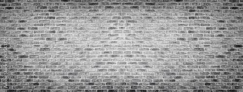 Recess Fitting Brick wall Wide gray rough brick wall texture. Old masonry panorama. Panoramic brickwork background