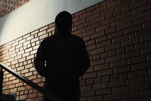 Silhouette Of Mysterious Man I...