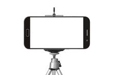Black Smart Phone With Tripod ...