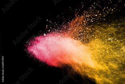 Colorful dust explode. Paint Holi. - 269574017