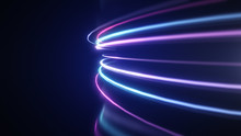Abstract Neon Light Streaks Lines Motion Background