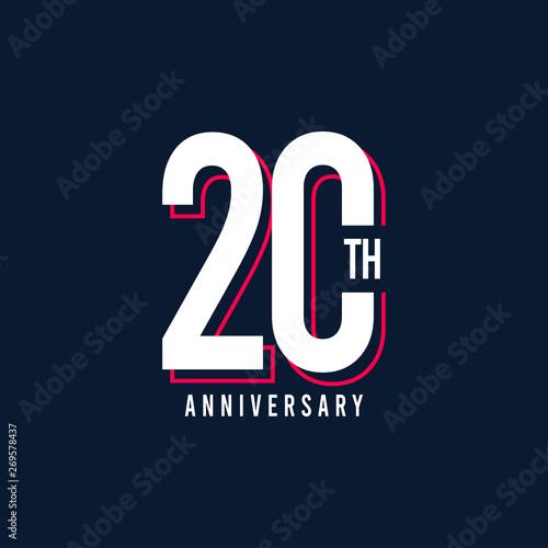 Fotografía  20 Th Anniversary Vector Template Design Illustration