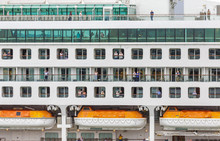 SOUTHAMPTON, ENGLAND - September 18, 2016: P O Cruises Is A British Cruise Line Based At Carnival House In Southampton, England, Operated By Carnival UK And Owned By Carnival Corporation