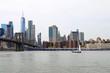 new york, nyc, manhattan, downtown, bridge, skyline, city, panorama, buildings, architecture, water, building, skyscraper, river, cityscape, urban,