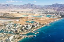 Eilat Israel Beach Aerial View Photo City Red Sea Aqaba Travel