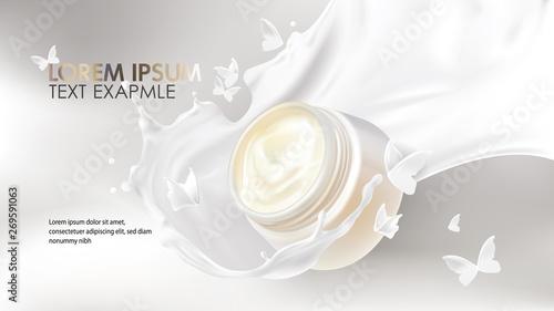 Fotografía Natural cosmetics realistic vector background