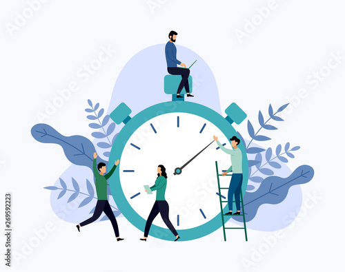 Obraz Time management, schedule concept or planner, business concept vector illustration - fototapety do salonu