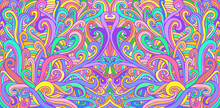 Colorful Doodle Waves Abstract...