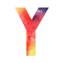 Watercolor Letter Y