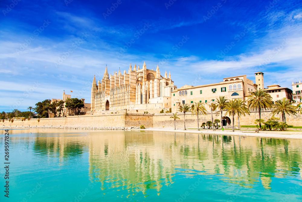 Fototapety, obrazy: Majestic Palma de Mallorca Cathedral, Spain