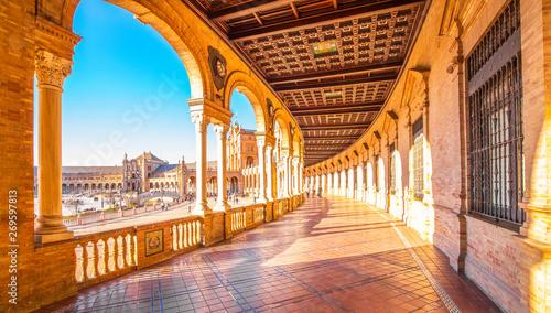 Spanish Square (Plaza de Espana) in Seville, Spain