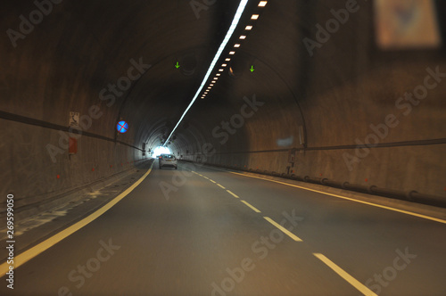 Papiers peints Tunnel The beautiful landscape street of Pafos