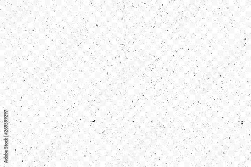 Obraz Old grunge black texture. Dark weathered overlay pattern sample on transparent background. Screen background. Vector. - fototapety do salonu