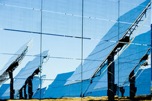 Reflection Of Modern Solar Pan...