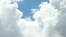 White Cumulus Clouds  Swirl In...