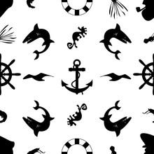 Marine Black White Pattern