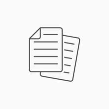 Paper Icon, File Vector