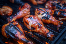 Grilled Barbecue Chicken Drums...