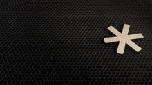 Wooden 3d Symbol Of Asterisk I...