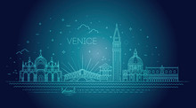 Venice City, Illustration. Vec...