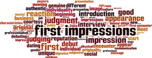 First Impressions Word Cloud