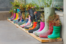 Multi-colored Rubber Boots As ...