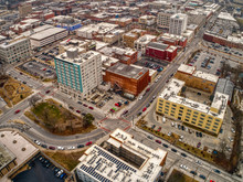 Aerial View Of Downtown Spring...