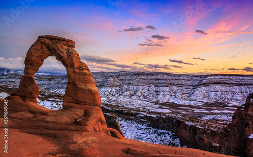 Printed kitchen splashbacks Purple Delicate Arch, Arches National Park Utah