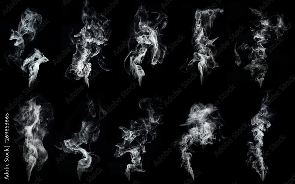Fototapety, obrazy: A large amount of smoke is taken  with many options available in various graphic